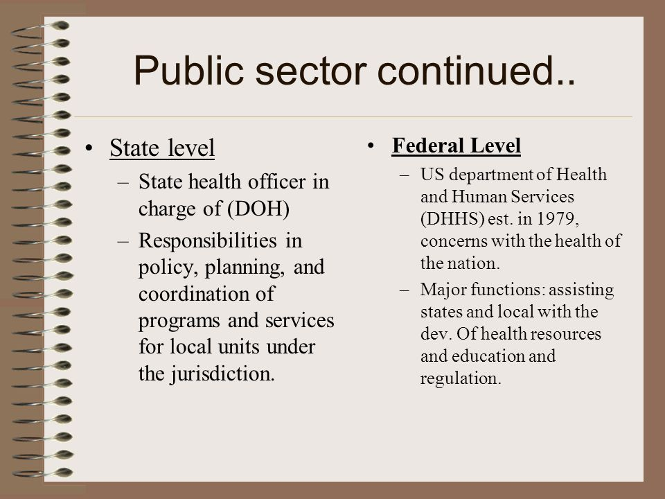 Public sector continued..