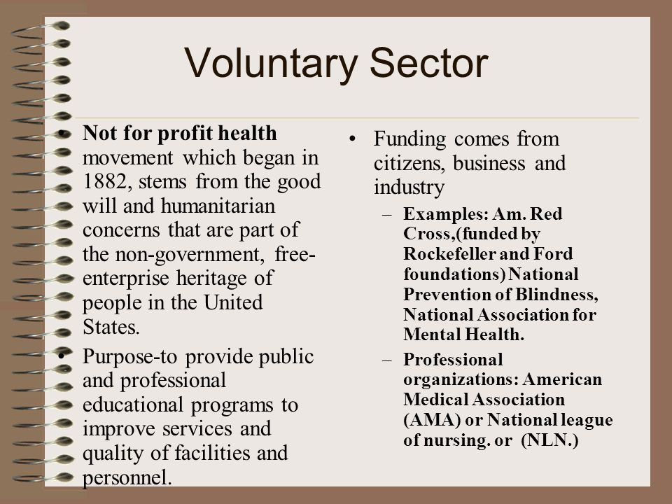 Voluntary Sector