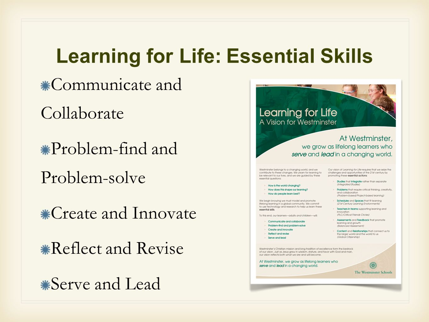Learning for Life: Essential Skills
