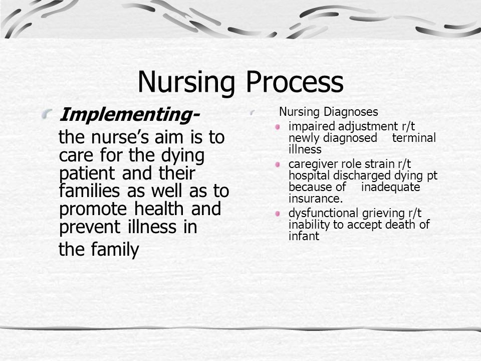Nursing Process Implementing- the family