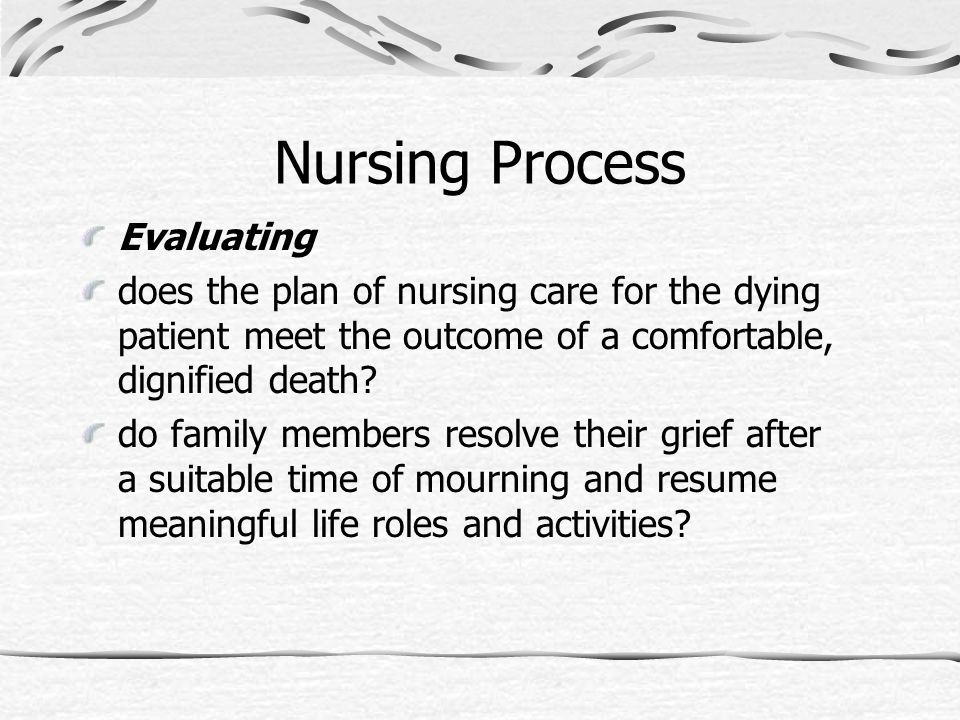 Nursing Process Evaluating