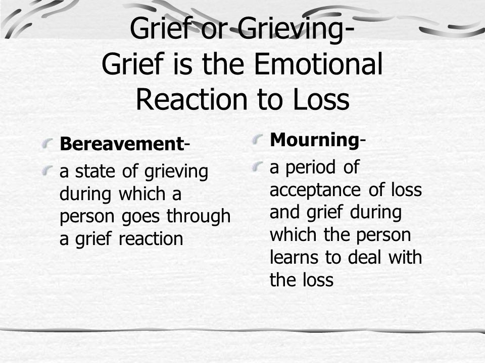 Grief worksheets