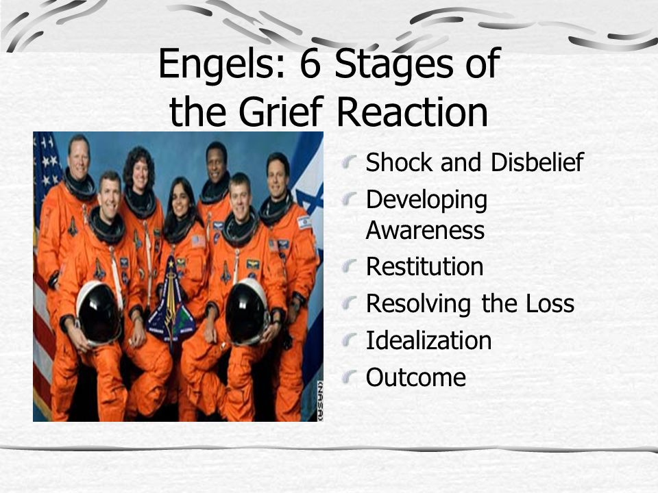 Engels: 6 Stages of the Grief Reaction