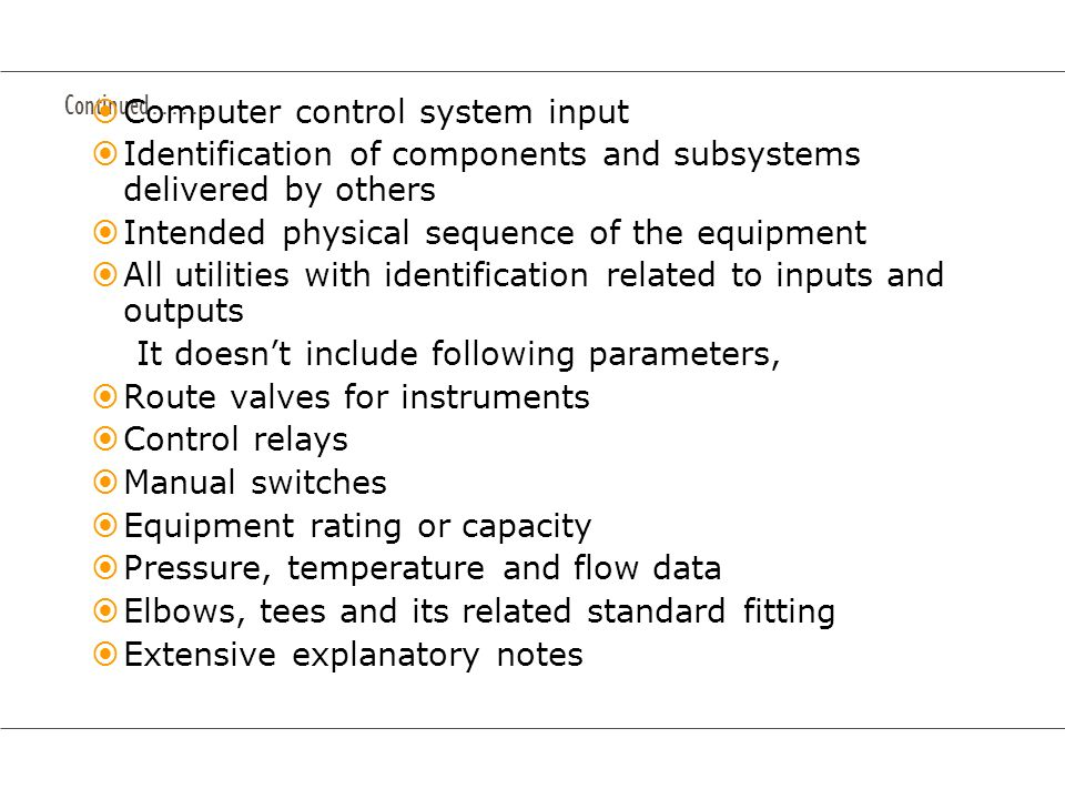 Computer control system input