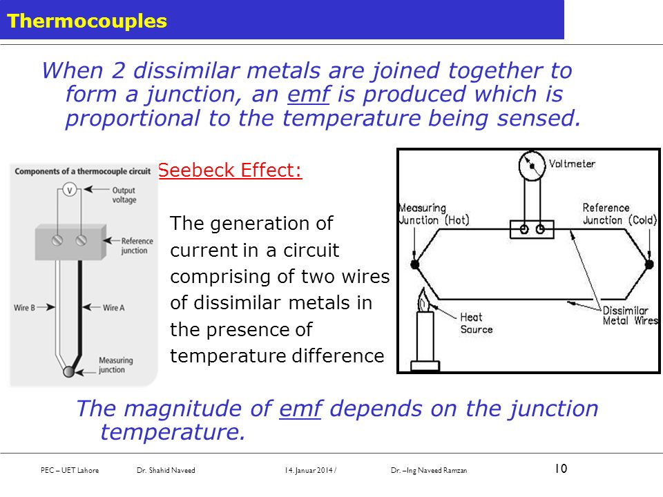 The magnitude of emf depends on the junction temperature.