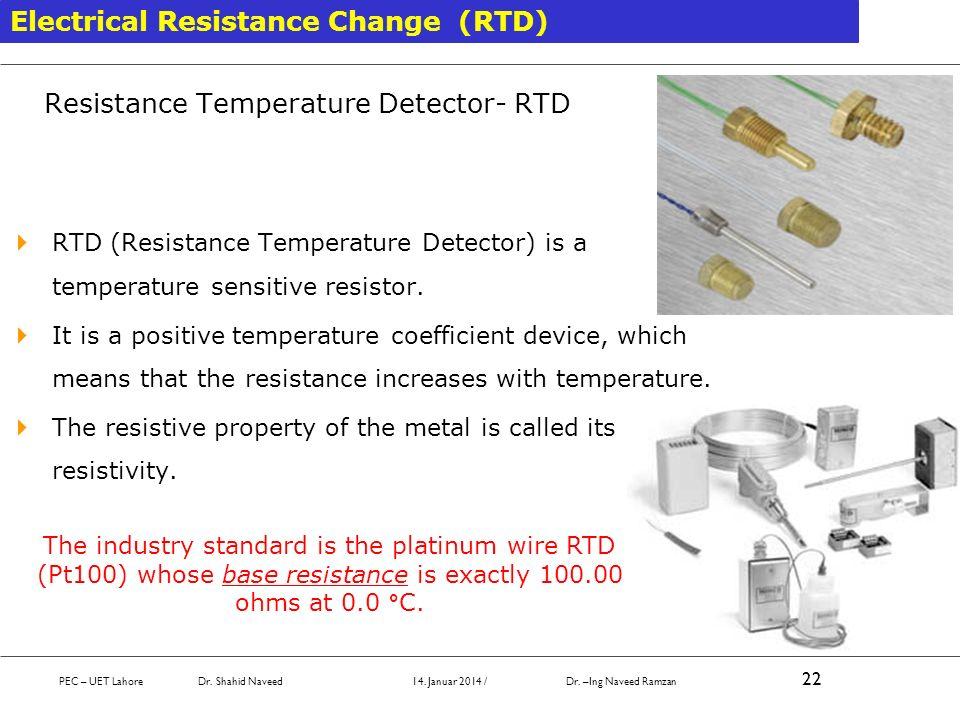 Resistance Temperature Detector- RTD