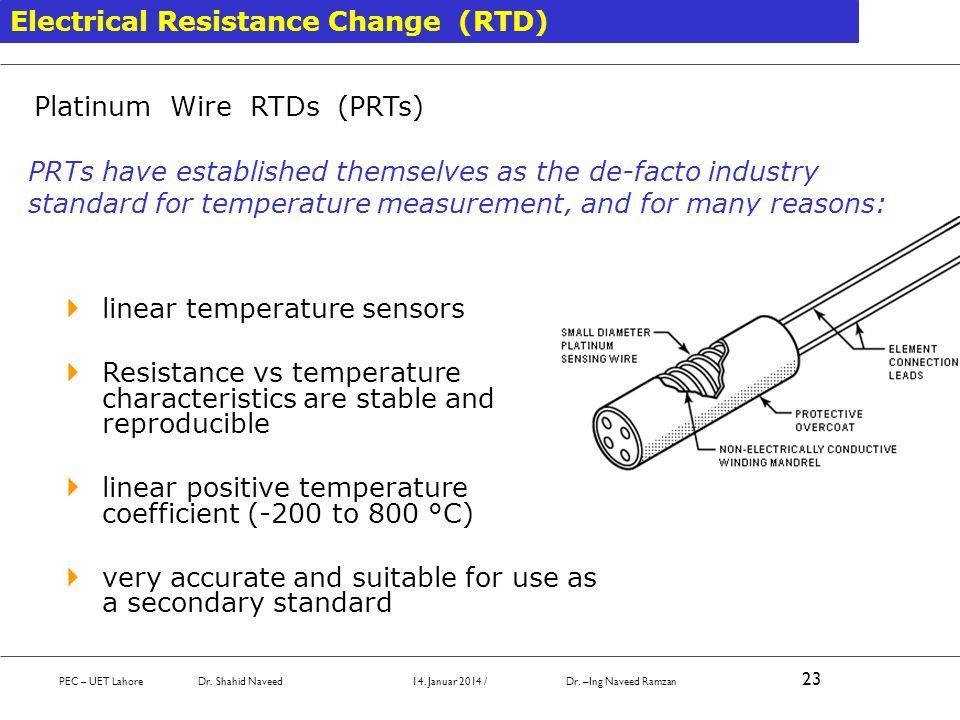 Electrical Resistance Change (RTD)