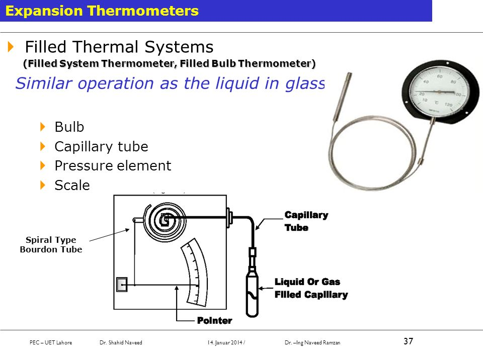Spiral Type Bourdon Tube