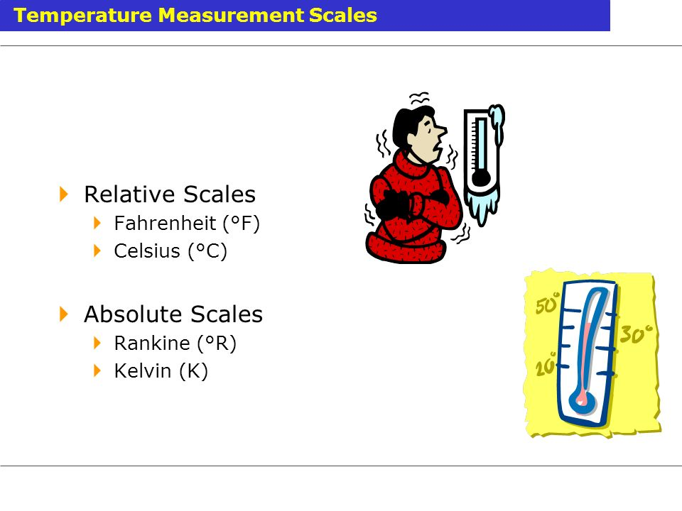 Relative Scales Absolute Scales Temperature Measurement Scales