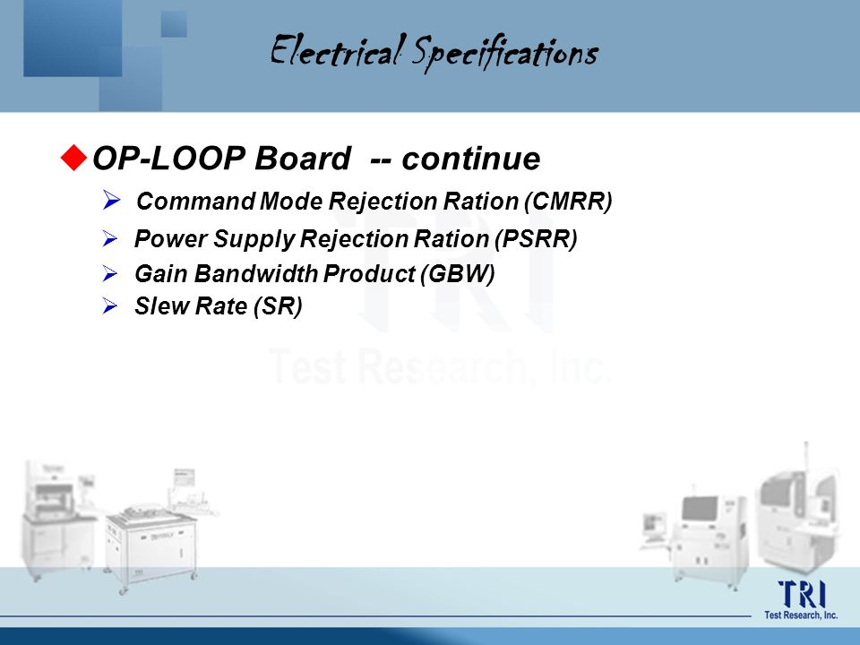 Electrical Specifications