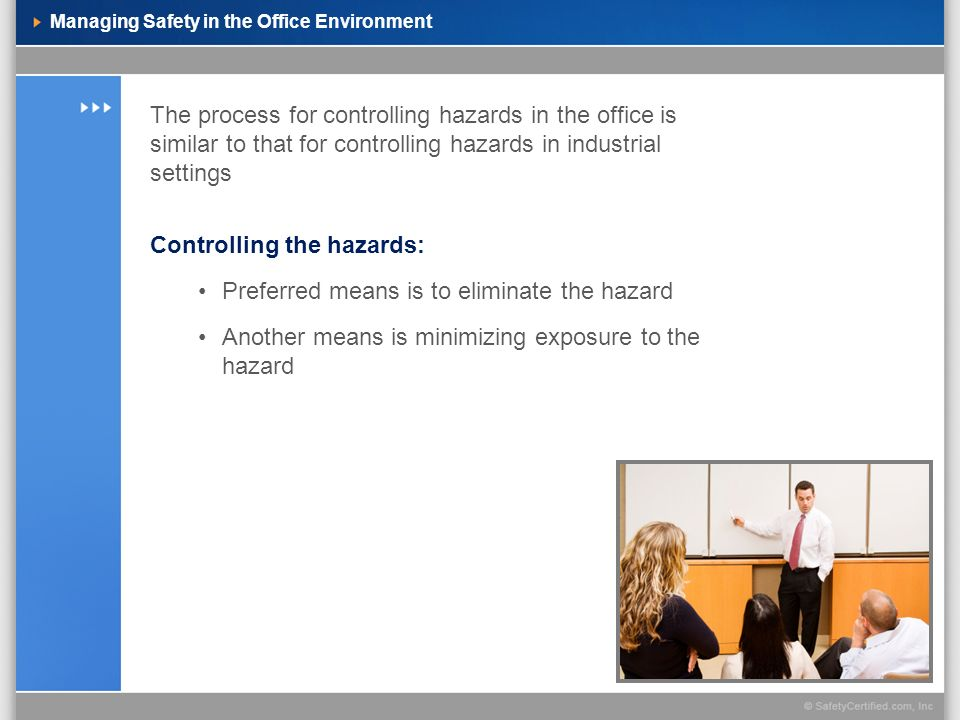 Managing Safety in the Office Environment