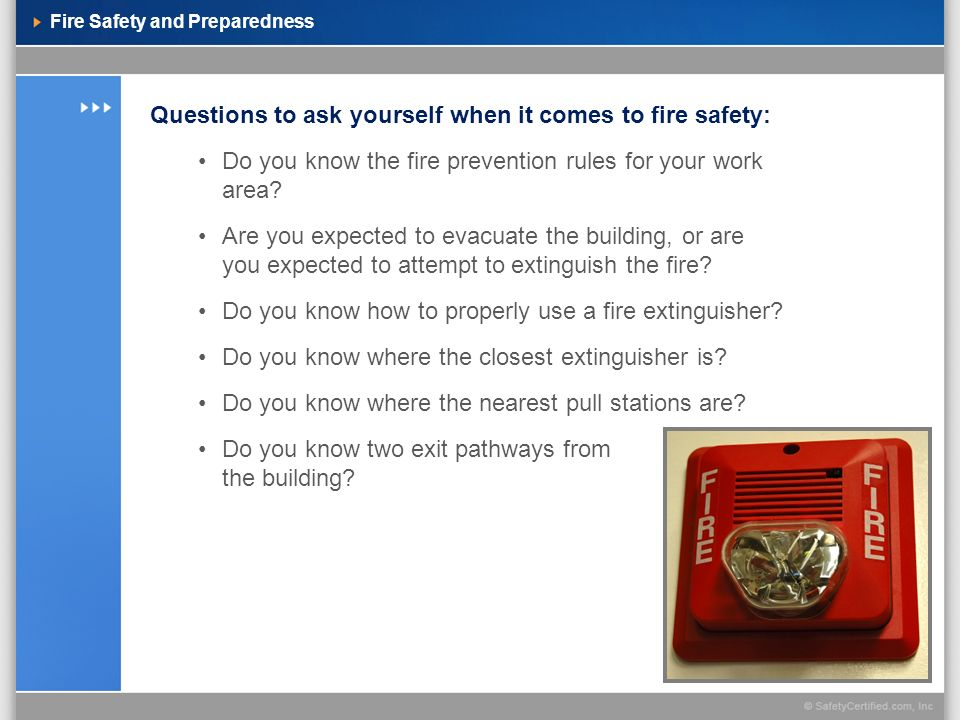 Fire Safety and Preparedness