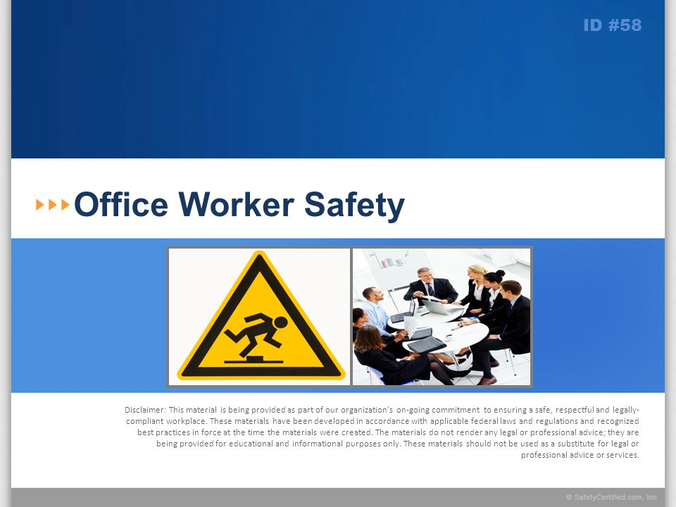 Office Worker Safety ID #58