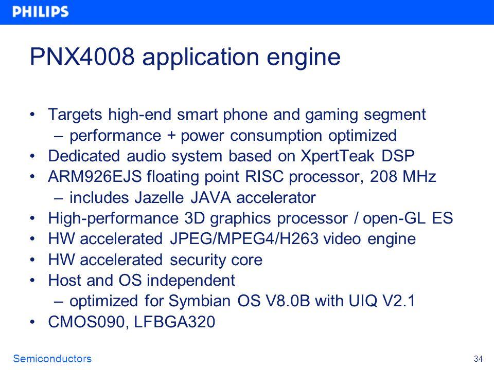 PNX4008 application engine