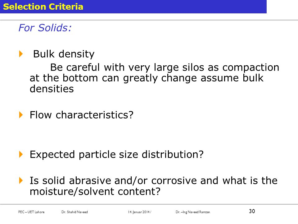 Expected particle size distribution