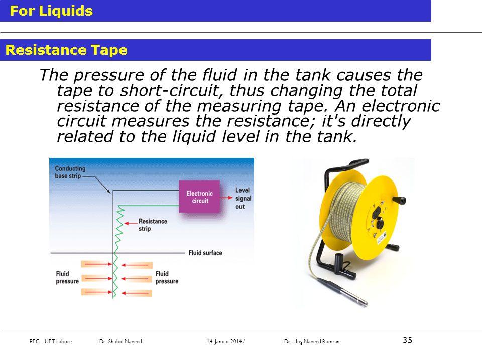 For Liquids Resistance Tape.