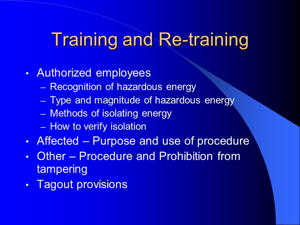 Training and Re-training
