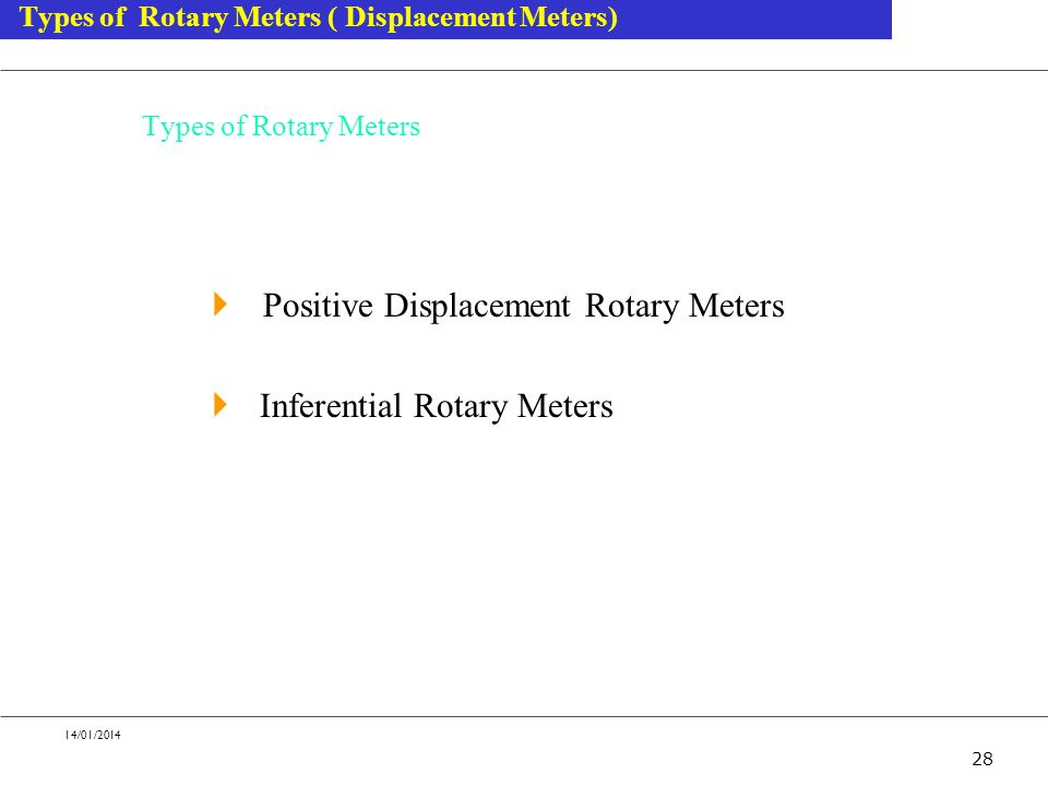 Positive Displacement Rotary Meters Inferential Rotary Meters