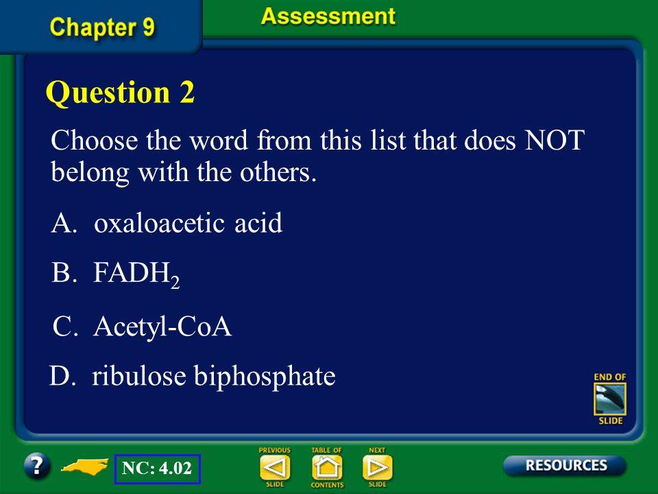D. ribulose biphosphate