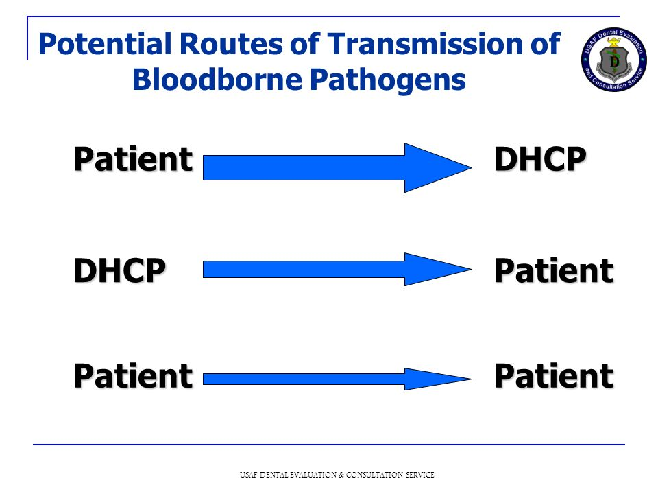 Potential Routes of Transmission of Bloodborne Pathogens