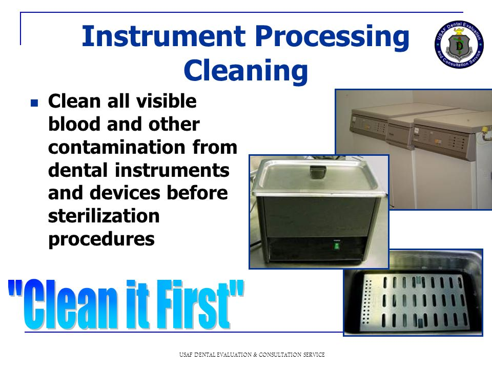 Instrument Processing Cleaning