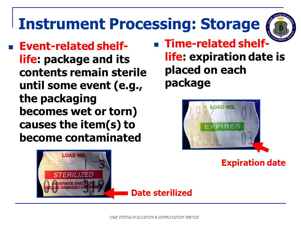 Instrument Processing: Storage