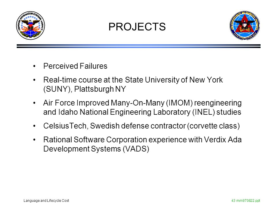 PROJECTS Perceived Failures