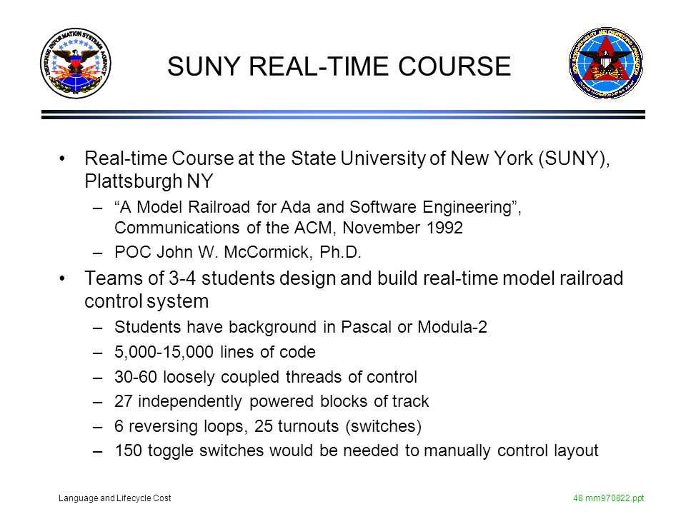 SUNY REAL-TIME COURSE Real-time Course at the State University of New York (SUNY), Plattsburgh NY.