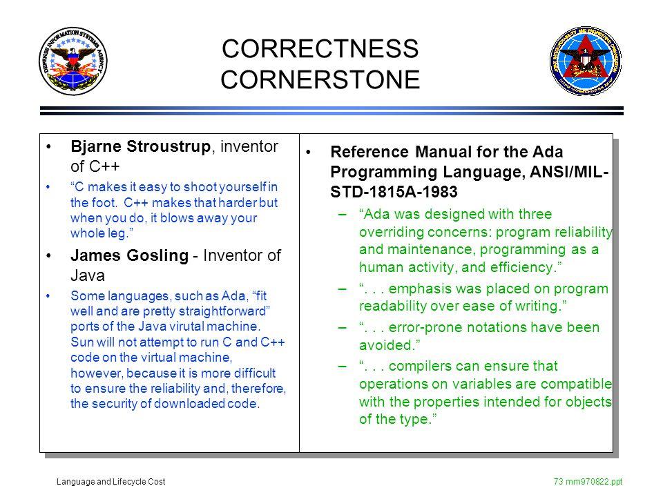 CORRECTNESS CORNERSTONE