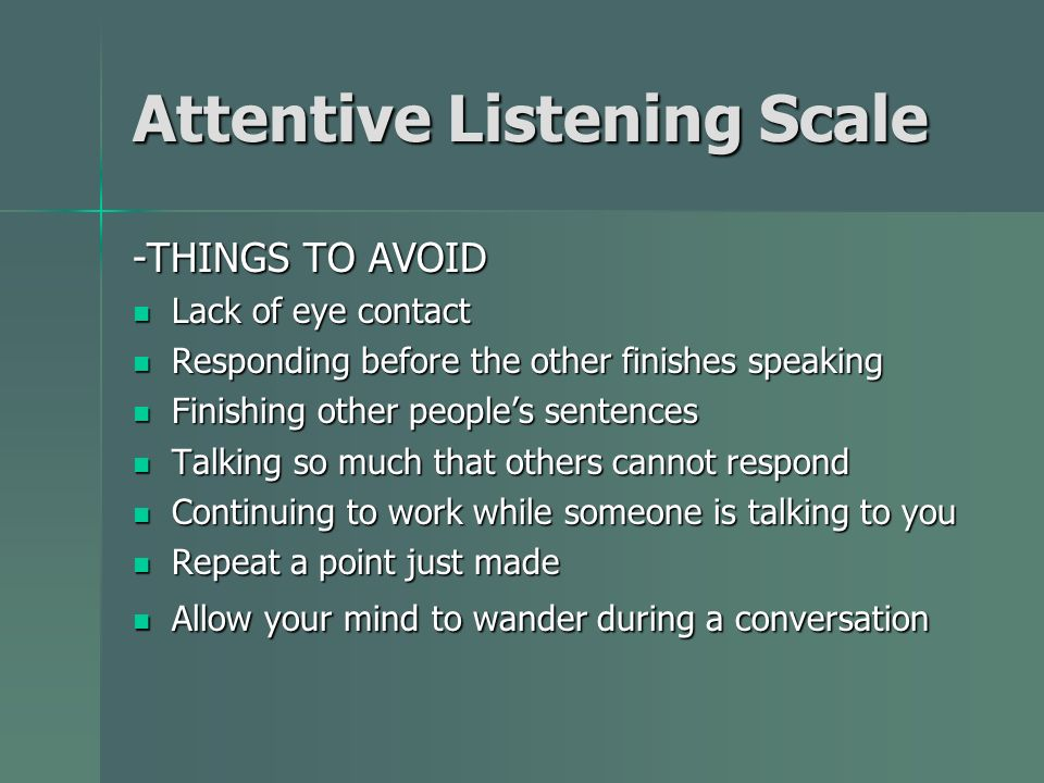 Attentive Listening Scale