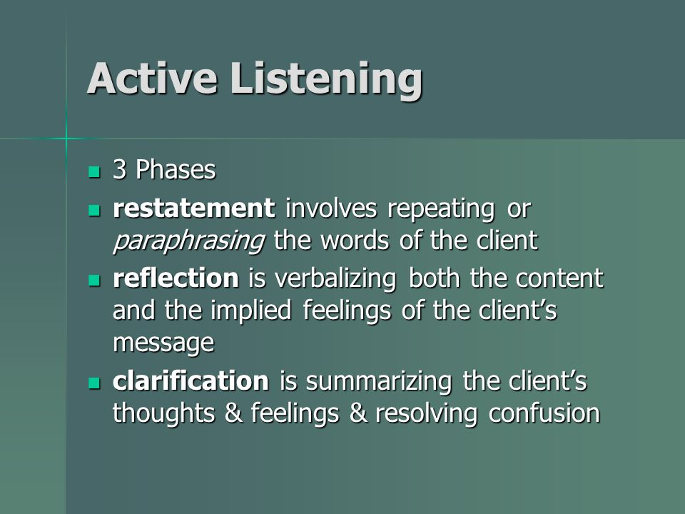 Active Listening 3 Phases