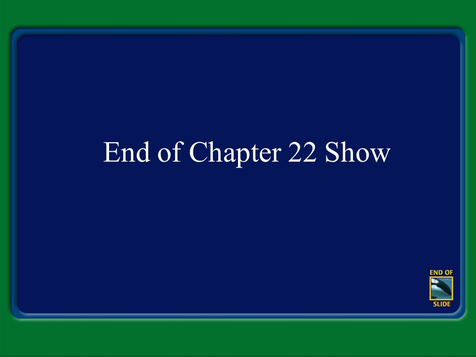 End of Chapter 22 Show