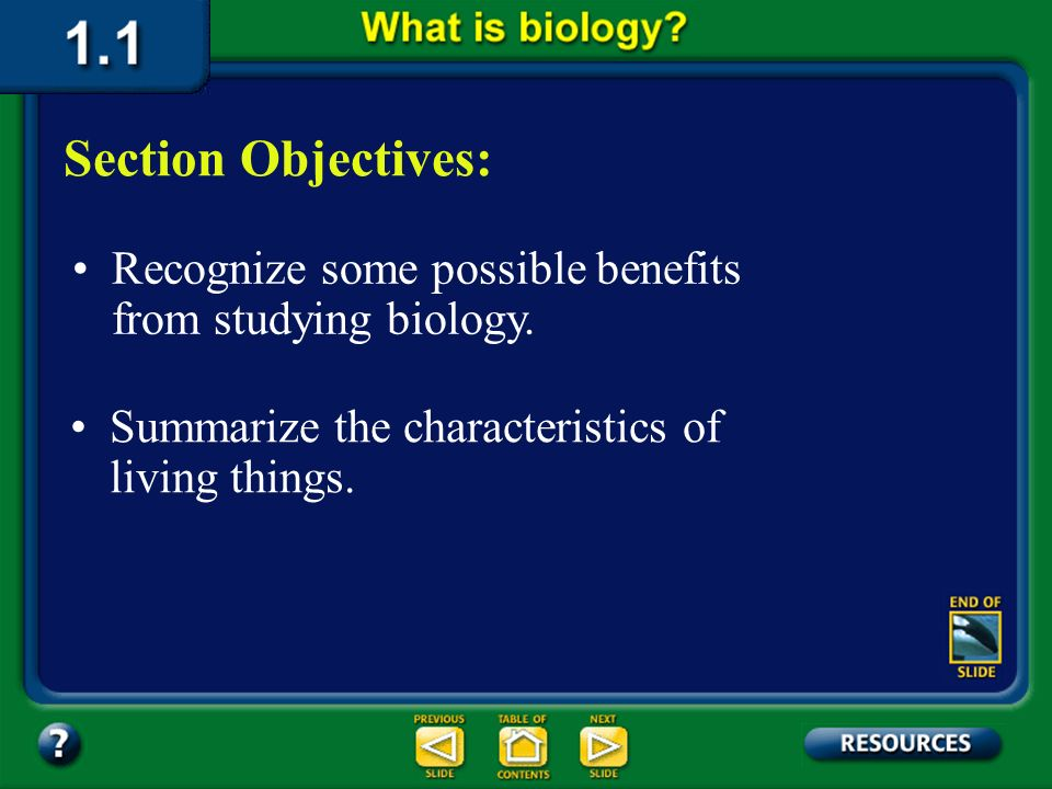 1.1 Section Objectives – page 3