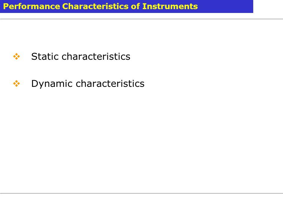 Static characteristics Dynamic characteristics