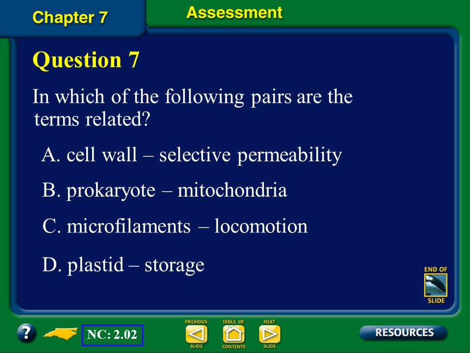 Question 7 In which of the following pairs are the terms related