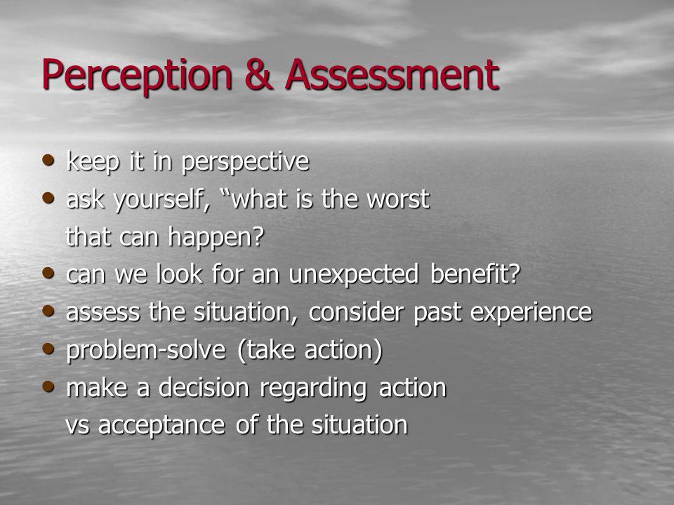 Perception & Assessment