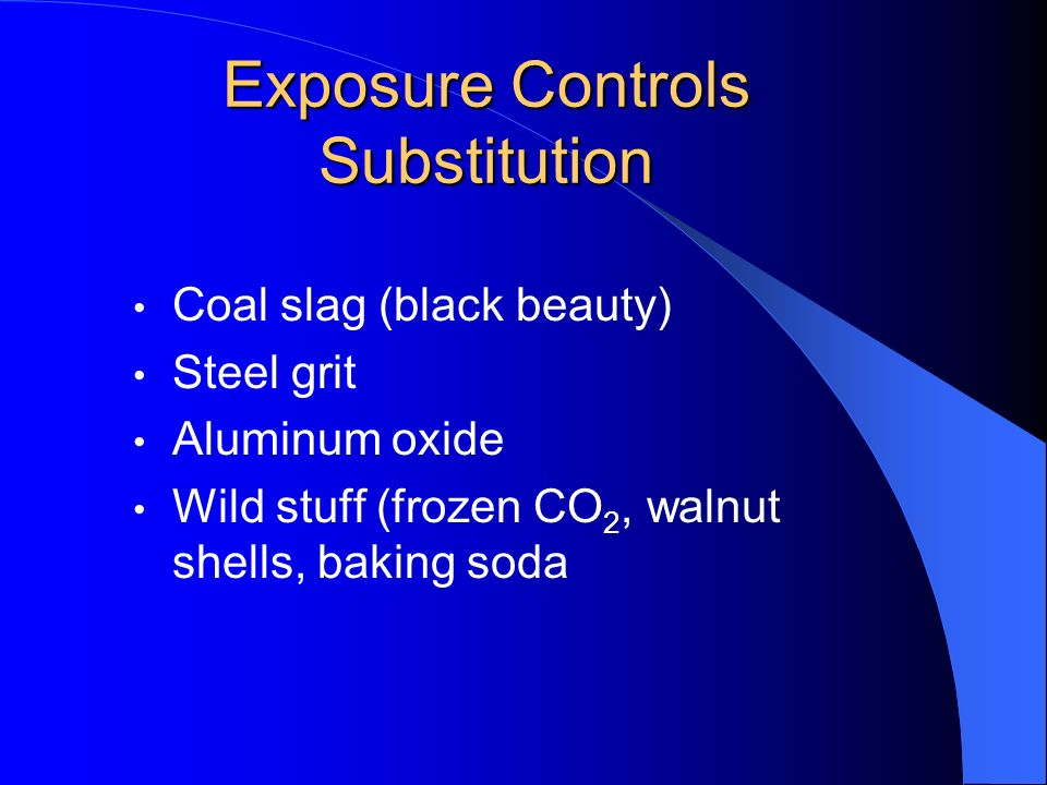 Exposure Controls Substitution