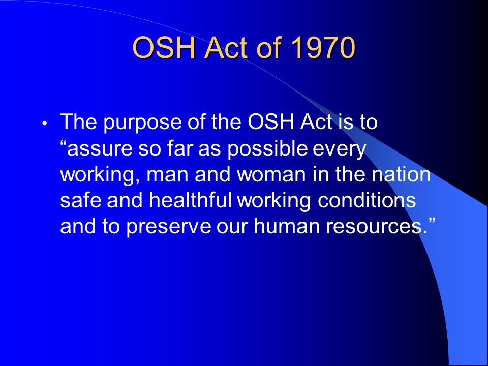 OSH Act of 1970