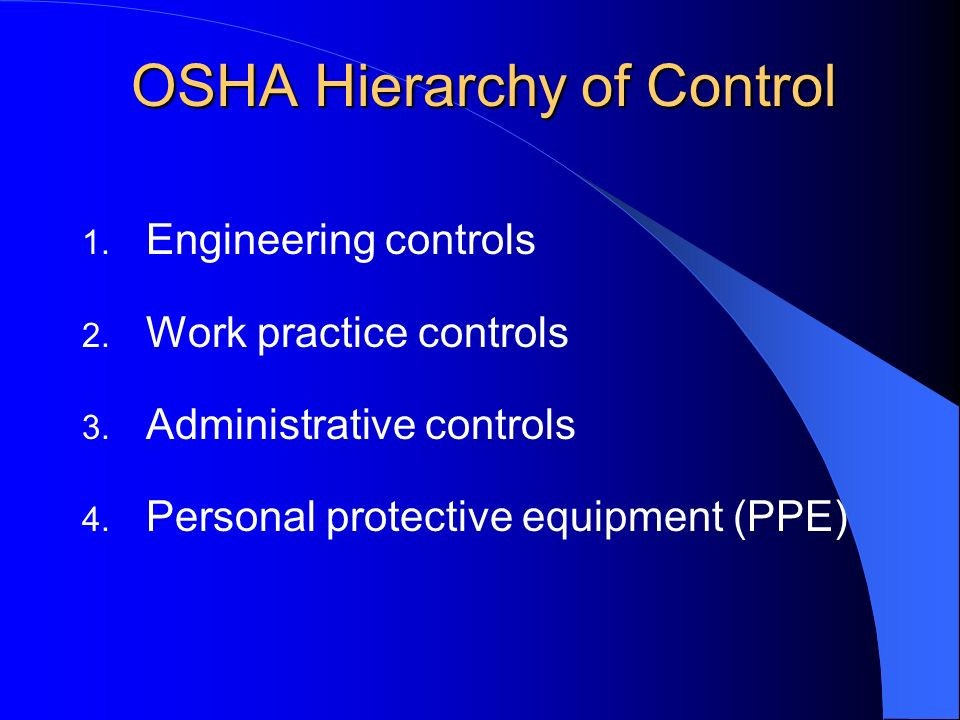 OSHA Hierarchy of Control