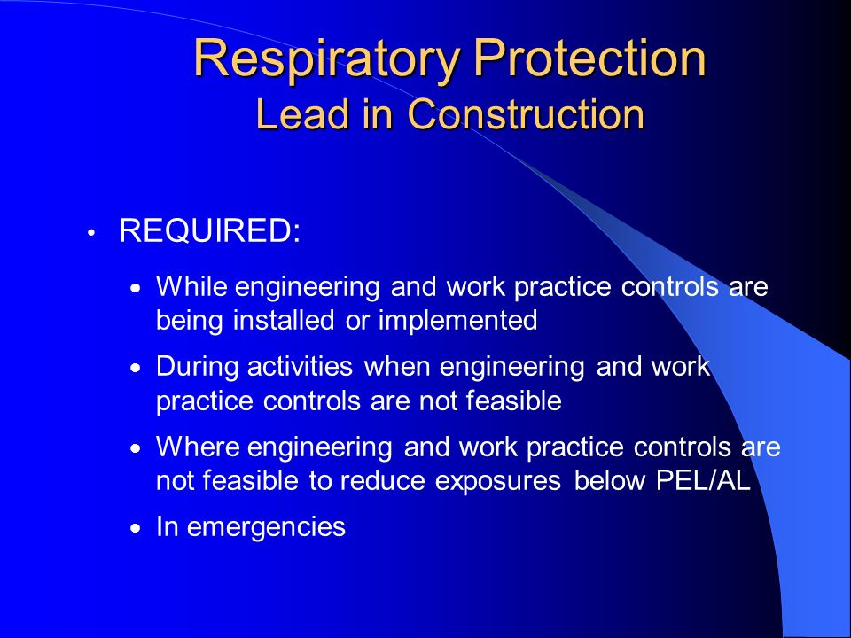 Respiratory Protection Lead in Construction