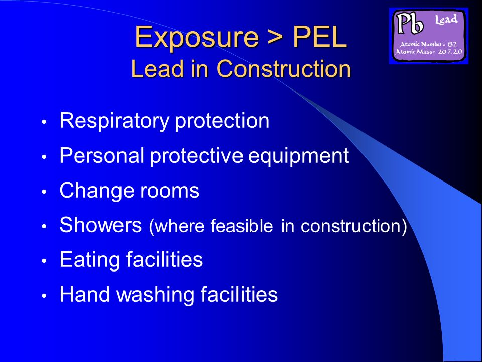 Exposure > PEL Lead in Construction