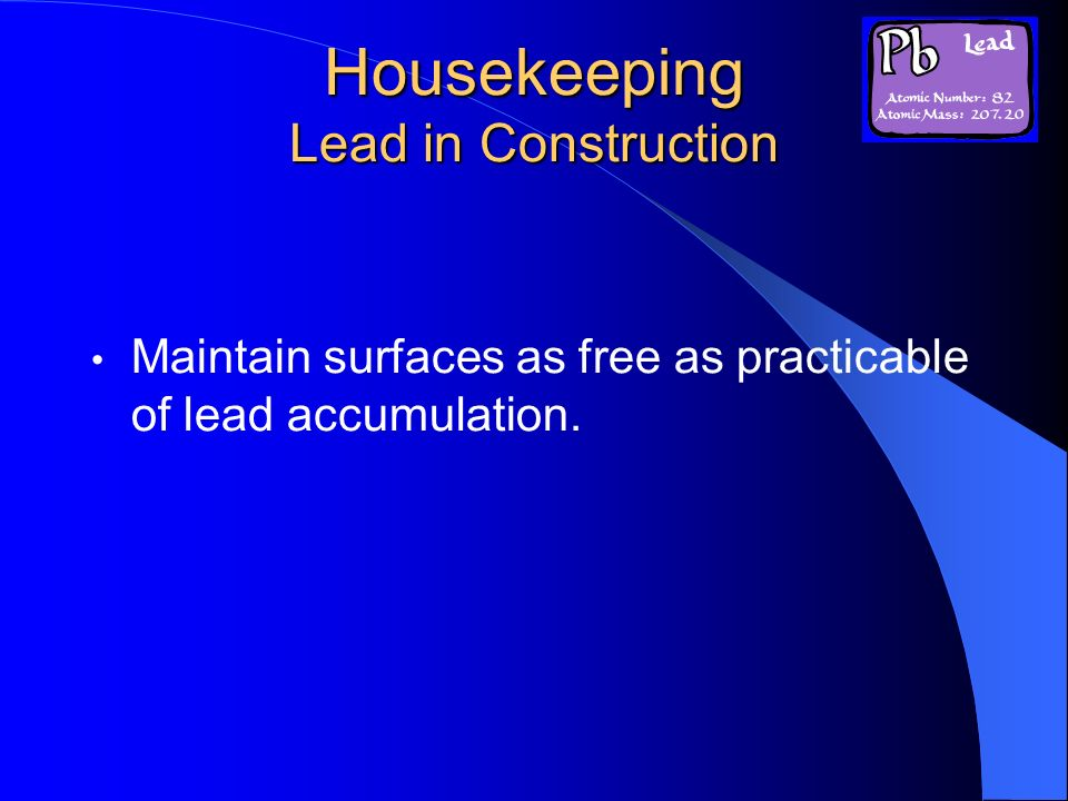 Housekeeping Lead in Construction