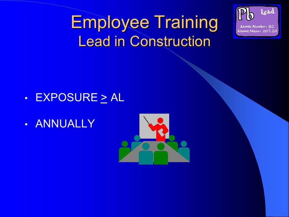 Employee Training Lead in Construction