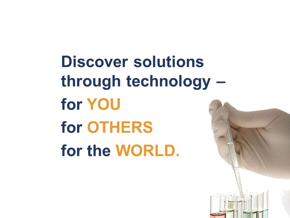 Discover solutions through technology –