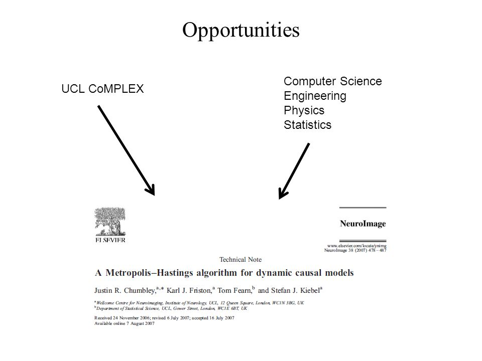Opportunities Computer Science UCL CoMPLEX Engineering Physics