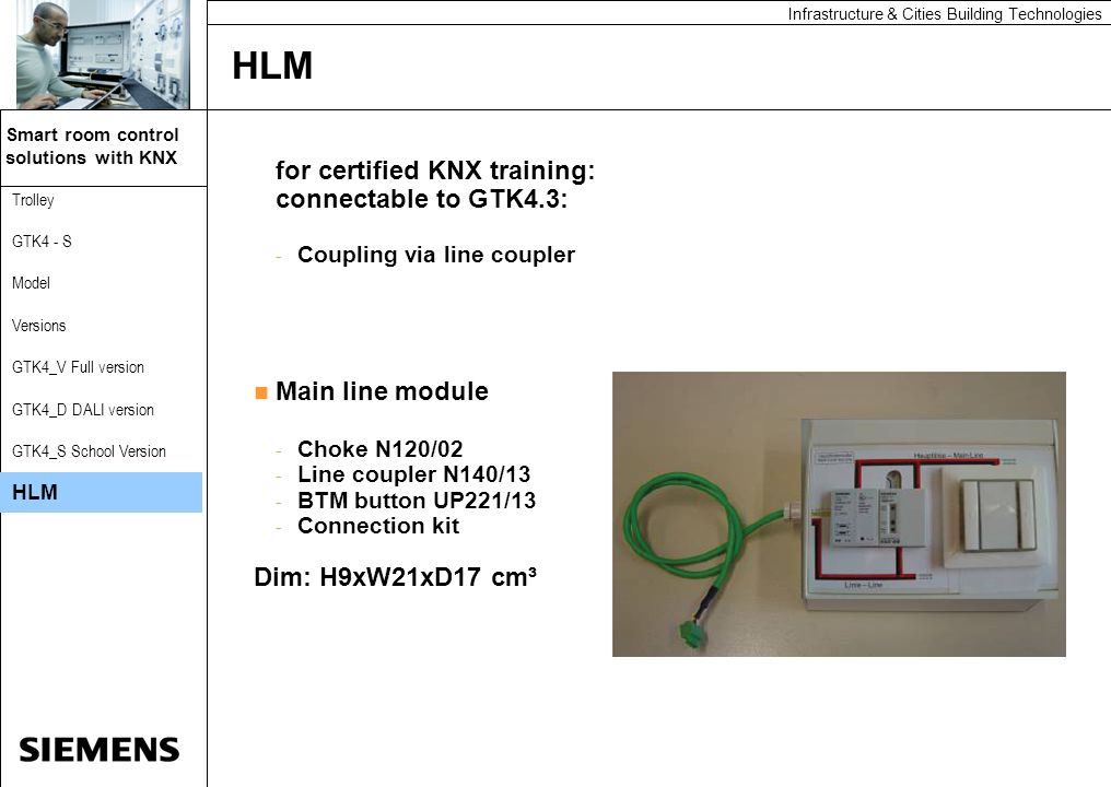 HLM for certified KNX training: connectable to GTK4.3: