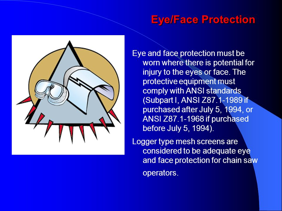 Eye/Face Protection
