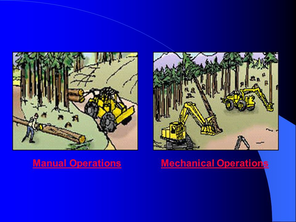 Manual Operations Mechanical Operations