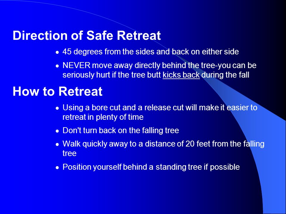 Direction of Safe Retreat