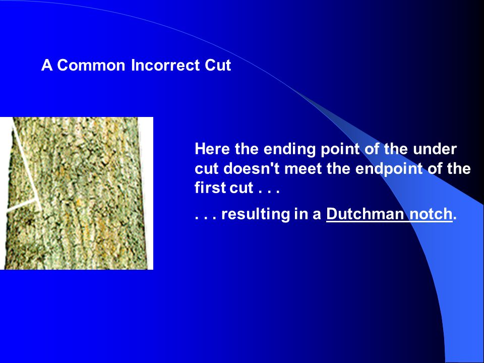 A Common Incorrect Cut Here the ending point of the under cut doesn t meet the endpoint of the first cut . . .